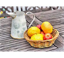 A Basket of Fruit Photographic Print