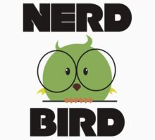 Nerd Bird with glasses Kids Clothes