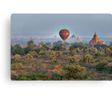 Ballons ride over temples of Bagan Canvas Print