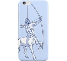 White and Blue Centaur Aiming High T-Shirt by Cheerful Madness!! iPhone Case/Skin
