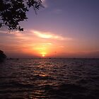 Abaco sound Sunset Bahamas by Jim Hellier