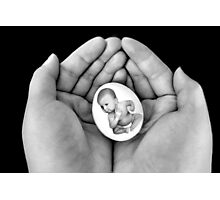 ▂ ▃ ▅ ▆ █ HOLDING  MY PRECIOUS LITTLE EGG WITH ATTITUDE █ ▆ ▅ ▃ Photographic Print