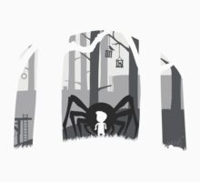 t-shirt LIMBO spider boy LOST game Kids Clothes