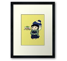 Teen Sherlock - Go Away! I'm in my mind palace! Framed Print