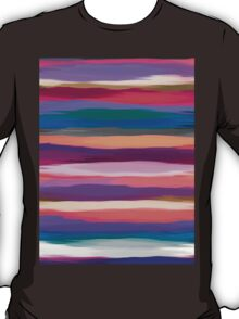 Watercolor Multicolor Abstract Background T-Shirt
