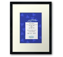 Space Mountain Fastpass Framed Print