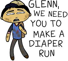 Glenn Make A Diaper Run by zombiemama