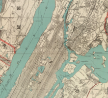 Vintage Map of New York City (1890) Sticker
