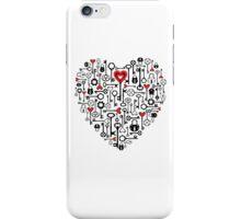 key to heart iPhone Case/Skin
