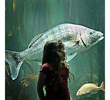 Mila and the Big Fish Photographic Print
