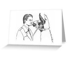 Twin Peaks Llama Scene Greeting Card