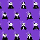 Panda Girl - Purple (Pattern 2) by Adamzworld