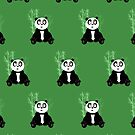 Panda Girl - Green (Pattern 2) by Adamzworld