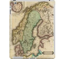 Vintage Map of Norway and Sweden (1831) iPad Case/Skin