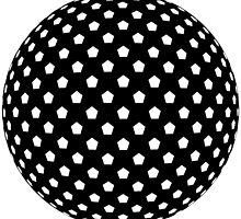 Geometric one in black and white by macbees