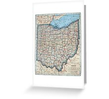Vintage Map of Ohio (1921) Greeting Card