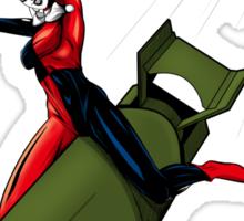 Harley Quinn Riding a Bomb Sticker