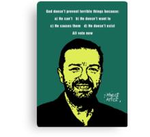 Ricky Gervais Atheist Canvas Print
