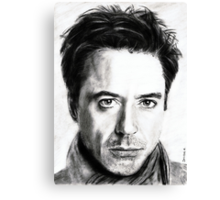 robert downey jr. ... pencil Canvas Print