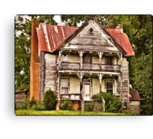 This is no Prefab Structure ... Built the Old Fashioned Way Canvas Print