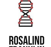 Rosalind Franklin (Dark Lettering) - T-Shirts / Hoodies by Hydrogene
