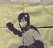 Vintage Throwback 60's The Bat by JamwiseGamgee