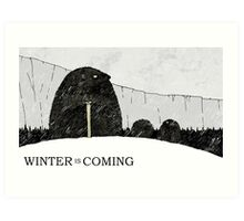 Winter is Coming Hedgehogs Art Print