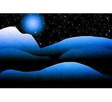 Blue Moon Mountain Landscape Art Photographic Print