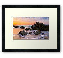 Sunrise Colors Framed Print