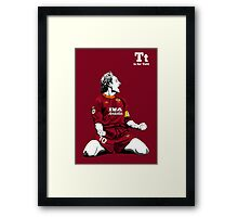 T is for Totti Framed Print