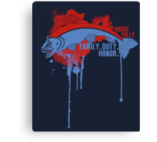 Tully House Game of Thrones Shirt Canvas Print