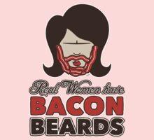 Bacon Beard (women's version) Kids Clothes