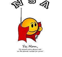 NSA:  I'll record every phone call...except for MOM's! by Kricket-Kountry