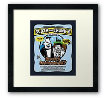Sloth and Chunk's Ice Cream Framed Print