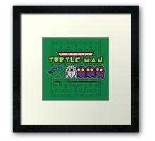 Hero in a Pac-Shell (Leo) Framed Print