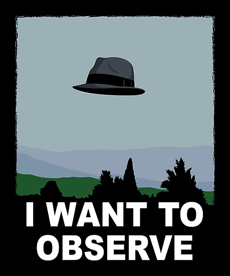 I Want to Observe by mikehandyart