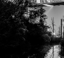 Talmadge Memorial Bridge Reflection Sticker