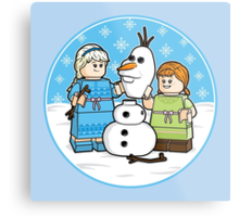 Want to Build a Snowman? Metal Print