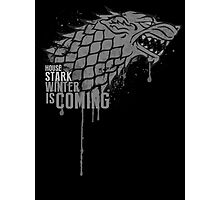 Stark House Game of Thrones Shirt Photographic Print