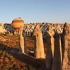 Sunshine Kisses The Balloons, Goreme, Turkey by Carole-Anne