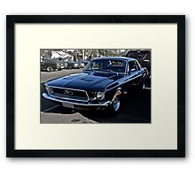 Black Ford Mustang Framed Print
