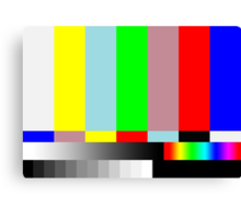 HD SMPTE TV Test Run Canvas Print