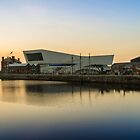 Canning Dock and the museum of Liverpool by Paul Madden