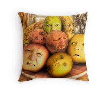 The madness of fruit Throw Pillow