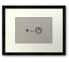 SNES Pad Framed Print