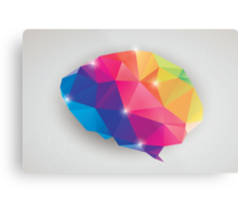 Abstract geometric human brain, triangles, creativity Metal Print