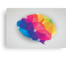 Abstract geometric human brain, triangles, creativity Canvas Print