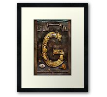 Steampunk - Alphabet - G is for Gears Framed Print