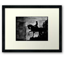A Step Back in Time (Black & White Version) Framed Print
