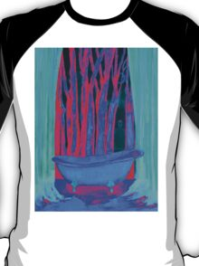 Bathroom with dreams energy painting pink rosa and blue T-Shirt